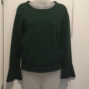Sweater,Green  ,with Bell Sleeve, sizeXS